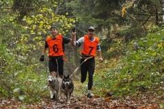 Entrainement de cani cross - Anthony et Jeremy